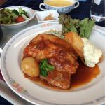 レストラン レジーナ:Aランチ(日替り)ポークシチューと鱈のフリッター