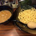 麺食い 慎太郎 #ramen つけ麺790円トッピングサービス味玉。うまし!トッピング一品無料ですがもう一つ付けたい