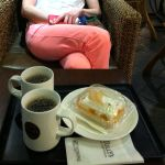 TULLY'S COFFEE モリシア津田沼店  ダブルピーチショートケーキと本日のコーヒー!