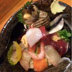 本日は、一寸法師で上海鮮丼でした。美味しゅうございました。