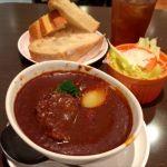 サンドッグイン神戸屋 京都マルイ店:牛ほほ肉のシチューセット(食事パン食べ放題)