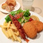 BISTRO&CAFE Le FIGARO 大丸梅田店:エビフライと海老クロケットのランチ(ブレッドバー、ドリンクバー付)