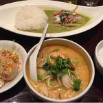 ジャスミン タイ コレド室町店グリーンカレーとトムヤムクンラーメン