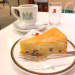 イノダコーヒ コーヒーサロン支店:ベイクドチーズケーキ、コーヒー