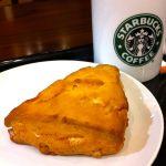 スターバックス・コーヒー 静岡丸井店 でオレンジスコーン。最近のお気に入りです。ソイラテとペアリング。