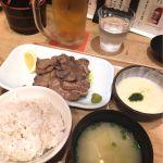 牛タンとろろ定食@有楽町 うまやの楽屋。牛タンは薄いより厚い方が好みだと再確認。