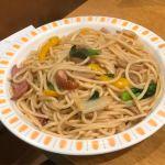 今月のおすすめスパゲッティは合鴨と菜の花の醤油バター!