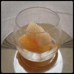 RESTAURANT KEI口直し蒲郡産みかんのシャーベットと紅茶のふわふわ