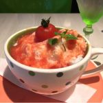 cafe table TERRACE なう!トマトトマトかき氷今年初のかき氷。意外とトマトいいかも?!