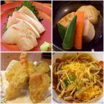 海の幸八     鯛飯定食✨ 活け刺身、炊き合わせ小鉢、アツアツ天麩羅、小鉢の蕎麦👌