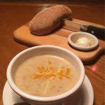 スープ♪  ハニートーストは手をつけると後から後悔します(笑)  #アウトバック・ステーキハウス 南町田グランベリーモール店