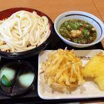 丸亀製麺 イオン与野店肉汁うどん。冷たいうどんで♪埼玉式。