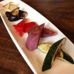 鉄板焼き野菜5種。@けやき坂