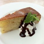 THE BUND プラス200円で本日のデザート 今日はバナナケーキ