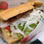#subwayjp サブウェイ ヒルズウォーク徳重店 フィリーステーキ 新メニュー。お肉はそこそこの量だけど、ペッパーが効いてていいね。いつもの野菜たっぷりもよいよい!