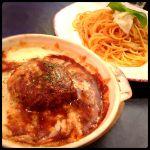 ハンバーグドリア&モッツァレラチーズとトマトソースのパスタ セット ¥880 ◇ パストラペ 相模大野ミロード店