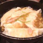 鉄鍋 水餃子玉子スープ    熱々!  @広東炒飯店 岡山一番街店