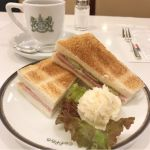 イノダコーヒ コーヒーサロン支店: ハムトーストとコーヒー(アラビアの真珠)