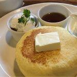CAFFE OTTO.Cycloリコッタチーズのスフレパンケーキチーズの味、強めです