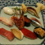 旭鮨 総本店 吉祥寺東急百貨店でスペシャルメニューの春。メインのお寿司。アワビとか、ウニとか…旨し。
