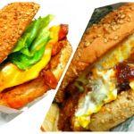 函館市のラッキーピエロ 函館駅前店。ラッキーエッグバーガーとトンテキチーズバーガーを注文。
