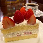 プレミアムストロベリーケーキ、芳醇ブレンド。@椿屋珈琲店 有楽町茶寮