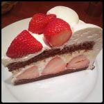 HARBS 名古屋ラシック店ストロベリーチョコレートケーキ