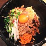 焼肉名菜 福寿、石焼カルビビビンバ。久しぶりに食べたけど、やっぱり美味しい!