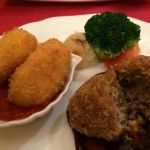 メンチカツレツと蟹クリームコロッケ  @洋食レストラン 西櫻亭 立川店