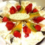 """岡山で""""HAKUJUJI""""のケーキでお祝いしてもらっちゃいました☆(●;v;●)"""