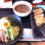らーめん藤龍 イオン石巻店、つけ麺と餃子