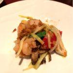 JOE'S SHANGHAI 海鮮2種と季節野菜の桜海老醬炒め(^^)