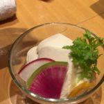 やさい家めい ルミネ横浜店   おぼろ豆腐    これもしゃぶしゃぶの具でした