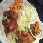 蔵やに来ました。唐揚げとキャベツの甘辛炒めが定食で700円