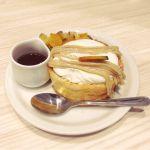 パンケーキ専門店 Butter Premium ららぽーと豊洲 久々のパンケーキ!は、リゾットとお得セットになってたモンブランクリームパンケーキ☻生クリームもたっぷりめでよかった*