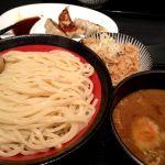 温玉つけ麺かしわ飯付き。ウマィ♪中盛りにしたからお腹イッパィ(*_*)山岸一雄製麺所 アリオ倉敷店