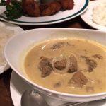 ジャワカレーセット。辛さ抑えめにしました。お肉ゴロゴロ! @インドネシア料理 スラバヤ 浦和パルコ店