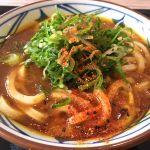 釜揚げ讃岐うどん 丸亀製麺 イオンモール筑紫野店。カレーうどん。洋食っぽいカレー。