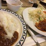今日のランチは、神戸カレー浪漫でロースカツ定食、ご飯はカレーライスを頂きました。50代のおじさんには、ヘビー過ぎです。ご馳走様でした。