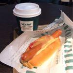 カフェ デュ モンド JR京都駅ビル店:チーズドックとホットティー