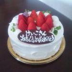 ラクルージュ ここで誕生日ケーキ買いました。美味しかったですよ。