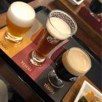 ヱビスビール記念館 飲み比べセット!¥800 我慢出来ずに少し呑んだ