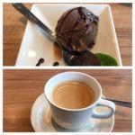 一瑳 コレットマーレ みなとみらい店   デザートとコーヒー   さすがこれだけでは申し訳ないのでアイスコーヒーも頼みました