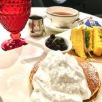 ロカンダ :  ランチセット 生タピオカココナッツミルクパンケーキ+BLTサンド  ドリンクのおかわりが嬉しいo(^o^)o
