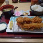新宿さぼてん 新宿京王店 大粒カキフライとカツ盛合わせ御膳(1730円)カキフライ、美味しいですよね〜