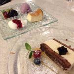 トラットリア コルティブォーノ東京 有楽町イトシアの4階。10月の夜のテラス席は寒い。コースのデザートがジェラート系(ティラミスも)で…でもお料理ぜんぶ美味しかった!