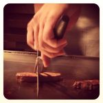 steak&veggie 煉にてお肉焼いてもらいました♪