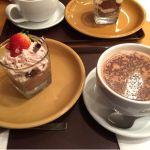 チョコレートといちごのモンブラン ショコラティチャイラテ