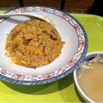 娘は5/8チャーハン・スープ付き(430円)を堪能ちぅw スープは見た目、かなり薄いのに味がしっかりしててウマウマだそうでふ♪