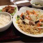 台湾小皿酒家 五福 台湾風塩焼きそばと油淋鶏定食 ンマンマ ^o^